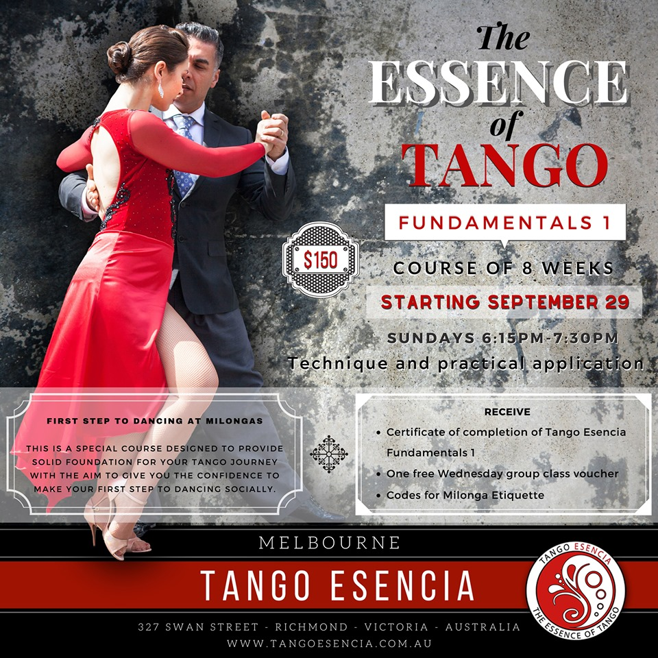 The Essence of Tango Fundamentals -1 by Tango Esencia @ Tango Esencia | Richmond | Victoria | Australia