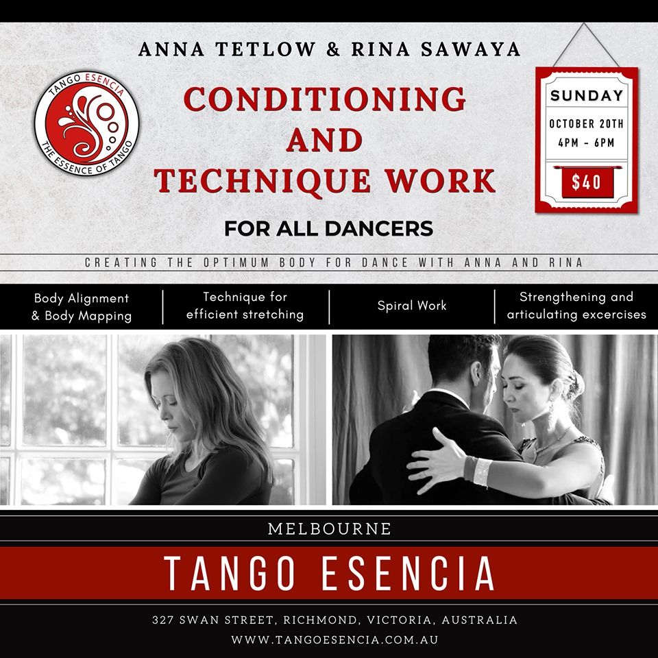 Conditioning & Technique Work @ Tango Esencia @ Tango Esencia | Richmond | Victoria | Australia