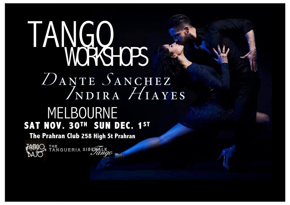 Dante and Indira Tango Workshops @ Prahran Club | Windsor | Victoria | Australia