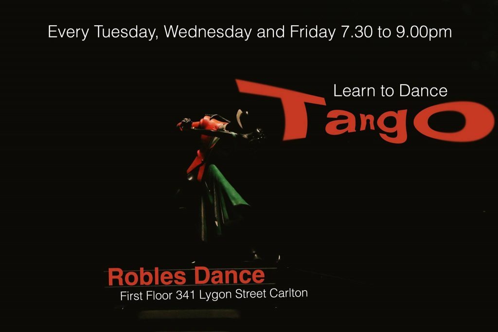 Robles Dance - Learn to dance Tango @ Robles Studio, 1st level | Carlton | Victoria | Australia